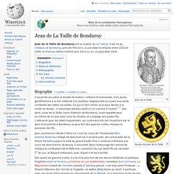 Jean de La Taille de Bondaroy
