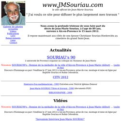 Jean Marie Souriau - le site officiel