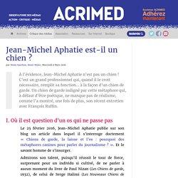 Jean-Michel Aphatie est-il un chien