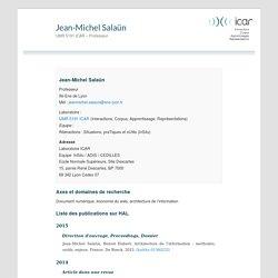 UMR 5191 ICAR – Professeur