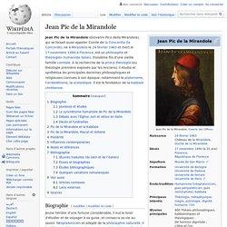 Jean Pic de la Mirandole