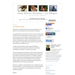 Blog Jean-Pierre Cloutier