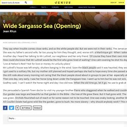 Jean Rhys – Wide Sargasso Sea (Opening)