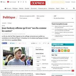 """Jean Sarkozy affirme qu'il est """"un élu comme les autres"""""""