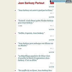 Jean Sarkozy Partout