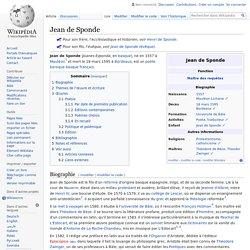 Jean de Sponde