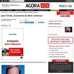 Jean Tirole, Economie du Bien commun - AgoraVox le m dia citoyen
