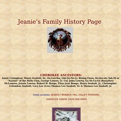 Jeanie's Family History Page