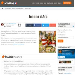 Jeanne d'Arc - Kwiziq French Blog