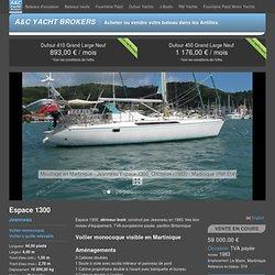 À vendre : Jeanneau Espace 1300, Voilier monocoque Occasion, 314 - A&C Yacht Brokers : acheter ou vendre votre bateau sur bateaux-antilles.fr