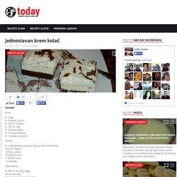 Jednostavan krem kolač Kuhajte sa užitkom!