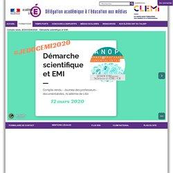 Compte rendu JEDOCEMI2020 : Démarche scientifique et EMI