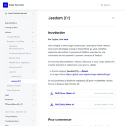 Jeedom (Fr) - Snips Dev Center