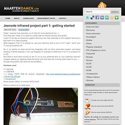 Jeenode infrared project part 1: getting started