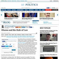 Jeff Connaughton: Obama and the Rule of Law
