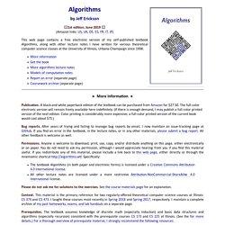 Jeff Erickson's Algorithms, Etc.