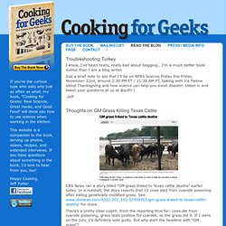 Cooking For Geeks » Read The Blog