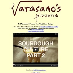Jeff Varasano's NY Pizza Recipe