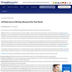 Jeff Nock Iowa on Writing a Business Plan That Works