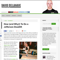 How (and Why!) To Do a Jefferson Deadlift - David Dellanave