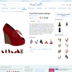 Front Row Fashion Wedge | Mod Retro Vintage Wedges