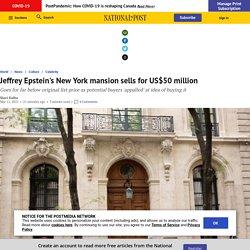 Jeffrey Epstein's New York mansion sells for US$50 million