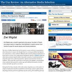 Jeffrey Zwi Epstein Migdal, by Gilad Atzmon