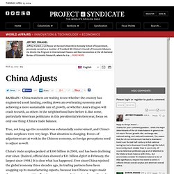 """China Adjusts"" by Jeffrey Frankel"