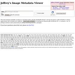 Jeffrey Friedl's Image Metadata Viewer