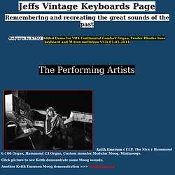 Jeffs Vintage Keyboards Page
