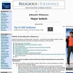 Jehovah's Witnesses' beliefs