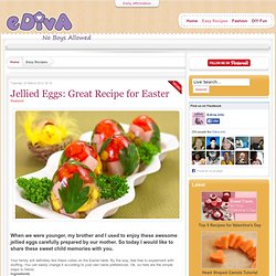 Jellied Eggs Great Recipe for Easter - Easy Recipes - ediva.info