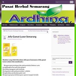 Jelly Gamat Luxor Semarang » Toko Herbal Semarang