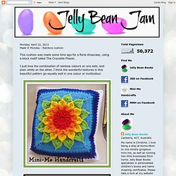 Jelly Bean Jam: Made It Monday - Rainbow cushion
