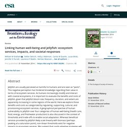 Ecological Society of America - 2014 - Linking human well-being and jellyfish: ecosystem services, impacts, and societal responses