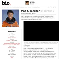 Mae C. Jemison - Biography - Doctor, Astronaut