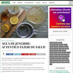 AGUA DE JENGIBRE: AUTENTICO ELIXIR DE SALUD – Remedios para el Alma