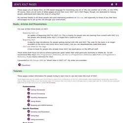 Jeni's XSLT Pages