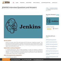 JENKINS Interview Questions and Answers