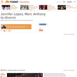 Jennifer Lopez, Marc Anthony to divorce - Entertainment - Celebrities