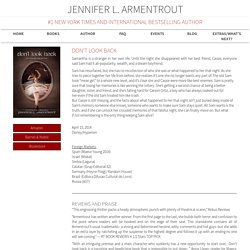 Jennifer L. Armentrout   Don't Look Back