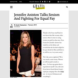 Jennifer Aniston Talks Sexism And Inequal Pay In Hollywood