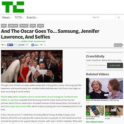 And The Oscar Goes To… Samsung, Jennifer Lawrence, And Selfies