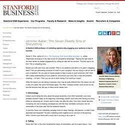 Jennifer Aaker: The Seven Deadly Sins of Storytelling