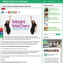 Jennifer Hudson's Weight Watchers Meal Plan - Weight Watchers Recipes