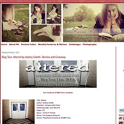 Blog Tour: Altered by Aubrey Coletti- Review and Giveaway
