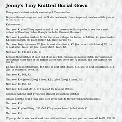Jenny's Tiny Knitted Burial Gown