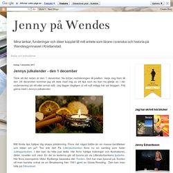 Jennys julkalender - den 1 december