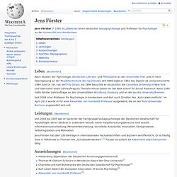 Jens Förster - wikipedia