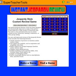 Free Flash Jeopardy Review Game